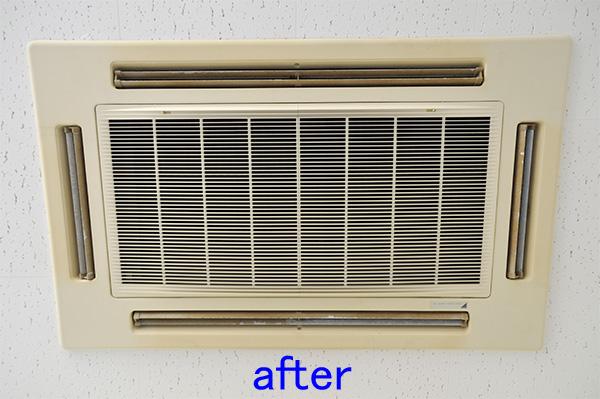 天井エアコン クリーニング後