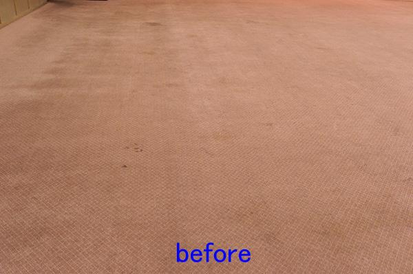 ホールにてカーペットクリーニング 洗浄前