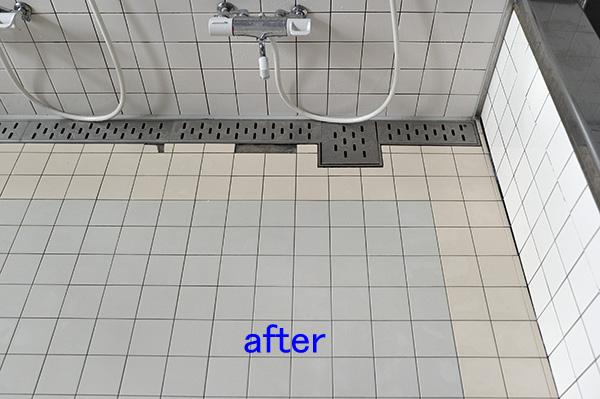 浴室、風呂タイル洗浄後