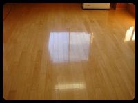 フローリング床清掃、ワックスかけ例