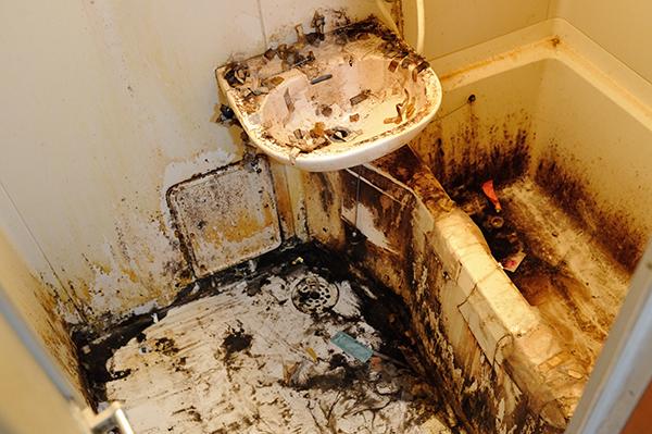 浴室、ユニットバス クリーニング前