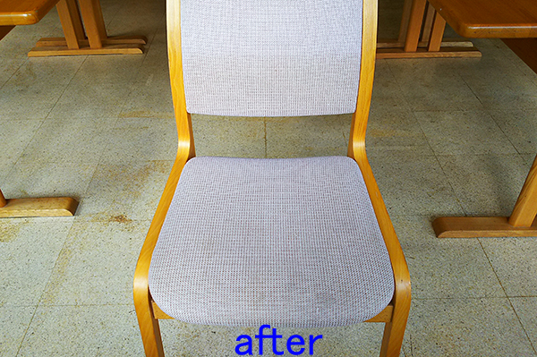食堂の椅子クリーニング後